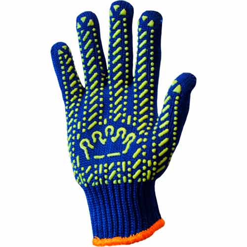 Рабочие перчатки Корона синие с рисунком ПВХ