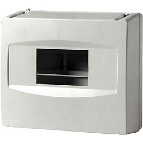 Корпус пластиковый 8-модульный e.plbox.stand.08, без дверки CSU1035