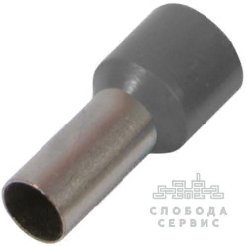 Изолированный наконечник втулочный e10-12.greу 10,0 кв.мм, серый s3036048