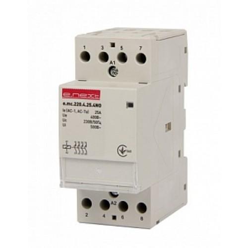 Модульний контактор e.mc.220.4.25.4NO, 4р,25А, 4NO, 220В p005005