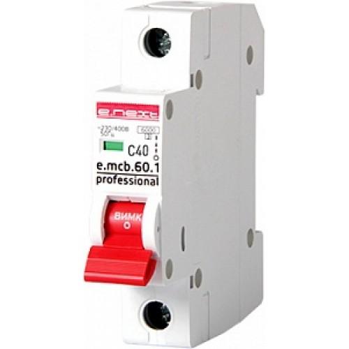 Модульный автоматический выключатель e.mcb.pro.60.1.C 40 P042012