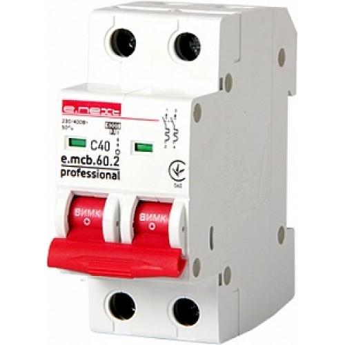 Модульный автоматический выключатель e.mcb.pro.60.2.C 40 P042021