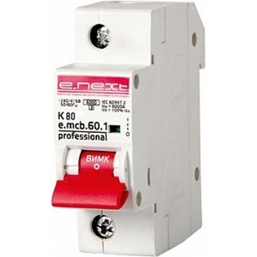 Модульный автоматический выключатель e.mcb.pro.60.1.K 80 p0430002