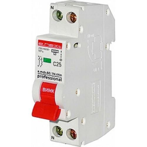 Модульный автоматический выключатель p055003 тонкий