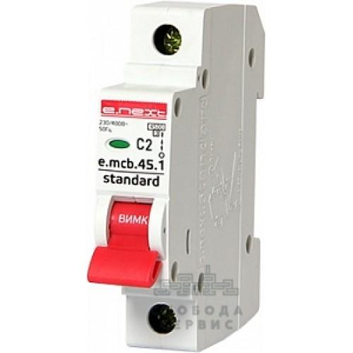 Модульный автоматический выключатель e.mcb.stand.45.1.C2 S002002