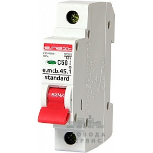 Модульный автоматический выключатель e.mcb.stand.45.1.C50 s002013