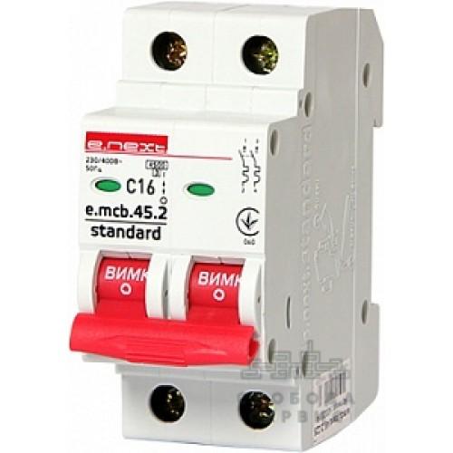 Модульный автоматический выключатель e.mcb.stand.45.2.C16 S002017
