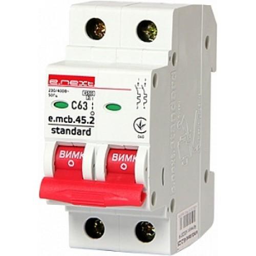 Модульный автоматический выключатель e.mcb.stand.45.2.C63 S002023