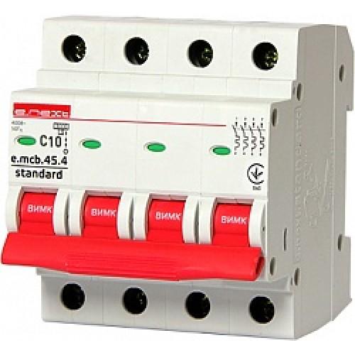 Модульный автоматический выключатель e.mcb.stand.45.4.C10 S002046