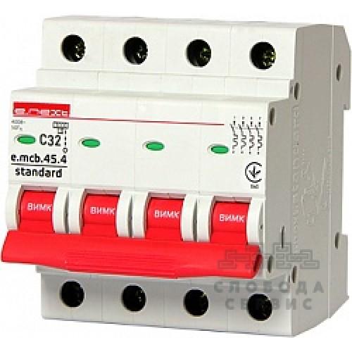 Модульный автоматический выключатель e.mcb.stand.45.4.C32 S002050