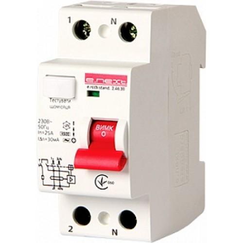 Выключатель дифференциального тока e.rccb.stand.2.40.30 2р s034002
