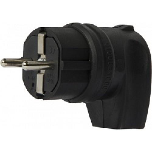 Вилка угловая каучуковая e.plug.rubber.angle.027.16, с з/к, 16А s9100030