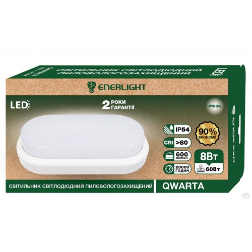 Светильник пылевлагозащищенный Enerlight Qwarta 8 Вт 4100К