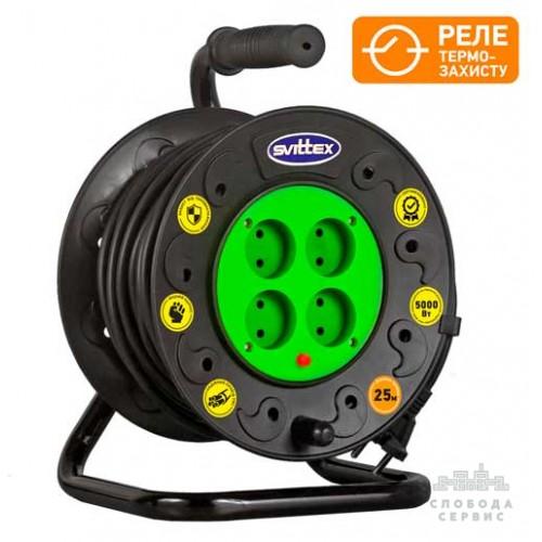 """Удлинитель на катушке SVITTEX """"Профи"""" (25 м) SV-018"""