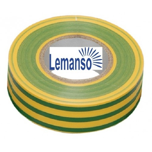 Изолента Lemanso желто-зеленая 10м. LMA006