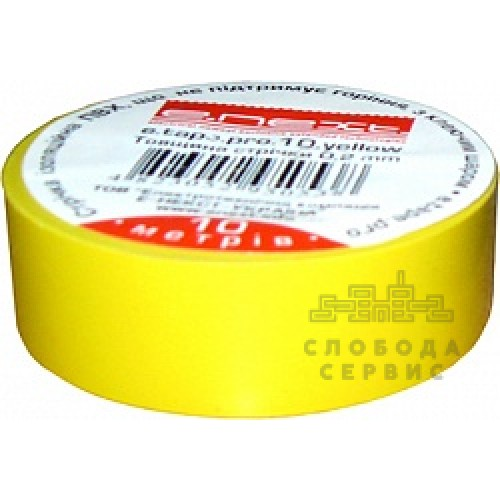 Изолента e.next желтая 20м. s022012