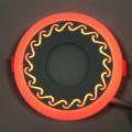 """LED панель Lemanso """"Завитки"""" 3+3W с красной подсветкой LM534 круг"""
