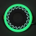 "LED панель Lemanso ""Завитки"" 6+3W с зеленой подсветкой LM539 круг"