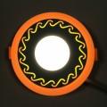 "LED панель Lemanso ""Завитки"" 3+3W с желтой подсветкой LM534 круг"