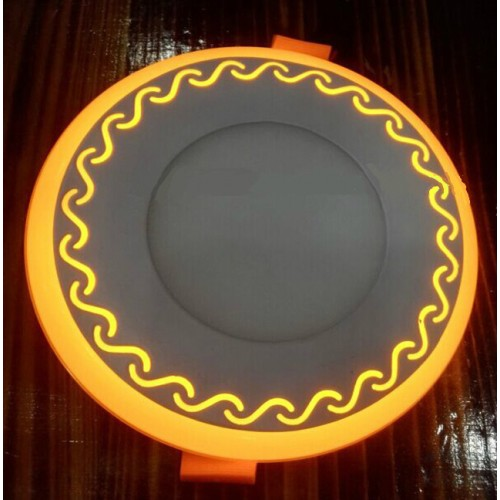 "LED панель Lemanso ""Завитки"" 6+3W с желтой подсветкой LM539 круг"