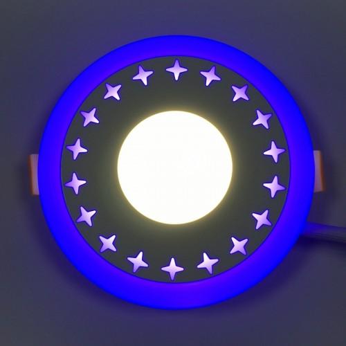 "LED панель Lemanso ""Звезды"" 3+3W с синий подсветкой LM535 круг"