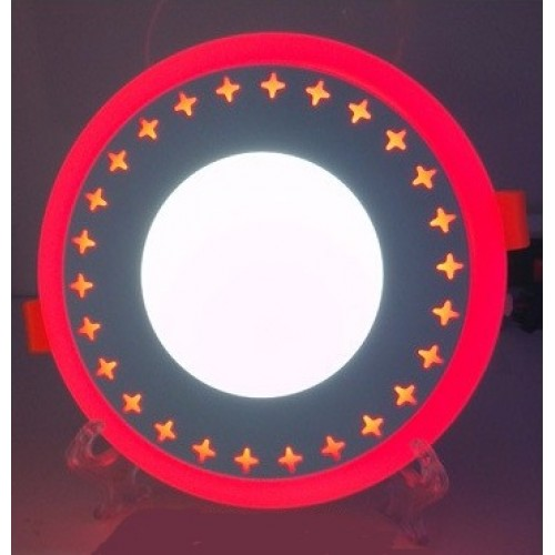 "LED панель Lemanso ""Звезды"" 3+3W с красной подсветкой LM535 круг"