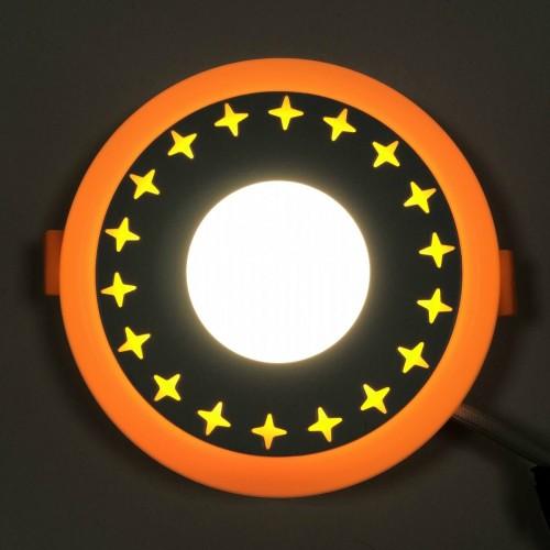 """LED панель Lemanso """"Звезды"""" 3+3W с желтый подсветкой LM535 круг"""