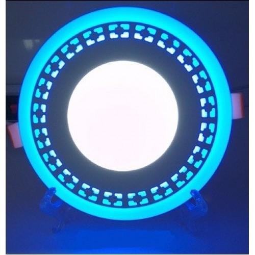 "LED панель Lemanso ""Кубики""12+6W с синей подсветкой LM546 круг"