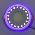 """LED панель Lemanso """"Точечки"""" 12+6W с синей подсветкой LM547 круг"""