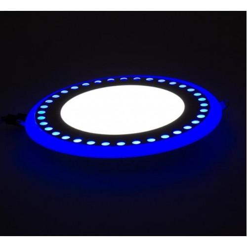 """LED панель Lemanso """"Точечки""""6+3W с синей подсветкой LM542 круг"""
