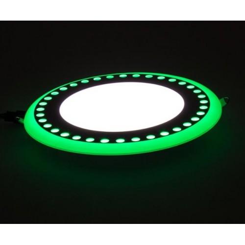 """LED панель Lemanso """"Точечки"""" 12+6W с зеленой подсветкой LM547 круг"""