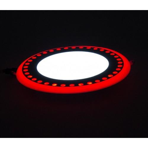 "LED панель Lemanso ""Точечки"" 3+3W с красной подсветкой LM537 круг"