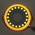 "LED панель Lemanso ""Точечки"" 6+3W с желтой подсветкой LM542 круг"