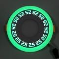 "LED панель ""Грек"" Lemanso 6+3W с зеленой подсветкой 540 Lm 4500K 85-265V / LM555 круг"