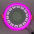 "LED панель ""Грек"" Lemanso 6+3W с розовый подсветкой 540 Lm 4500K 85-265V / LM555 круг"