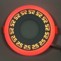 "LED панель ""Грек"" Lemanso 6+3W с красной подсветкой 540 Lm 4500K 85-265V / LM555 круг"