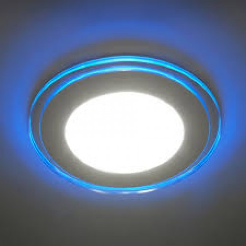 LED панель Lemanso 8W 450LM 4500K+синий, круг / LM429