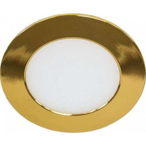LED панель Lemanso 6W 480LM 4000K круг золото / LM451