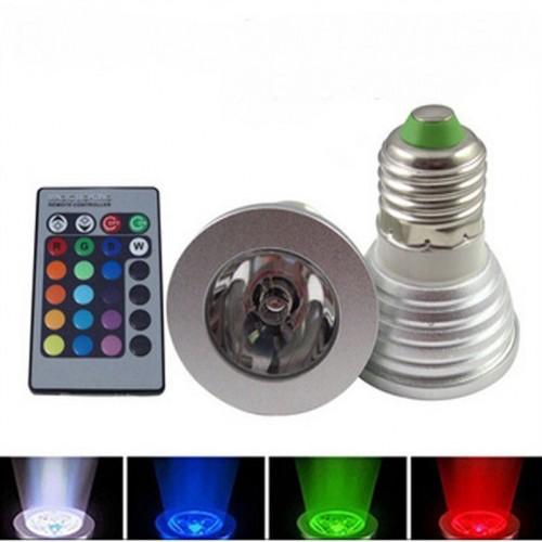 Лампа Lemanso св-ая E27 RGB 3W с пультом 85-230V / LM294