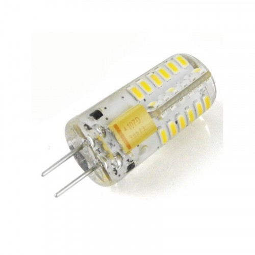 Лампа Lemanso св-ая G4 48LED 2,5W 150LM 4500K 3014SMD AC/DC12V силикон / LM350