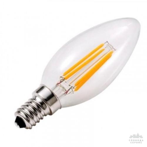 Лампа Lemanso св-ая C35 E14 4W 4LED 420LM 6500K / LM392