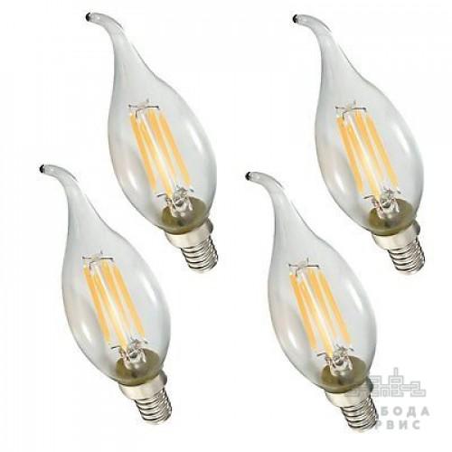 Лампа Lemanso св-ая C35T E14 4W 4LED 420LM 4500K / LM393 хвост