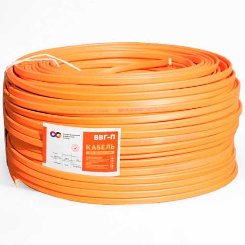 СКЗ кабель медный ВВГ-П нгд 2*2,5 мм2 оранжевый Слобожанский кабельный завод