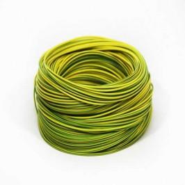 Кабель медный гибкий ПВ 3 1*1,0 мм2 жёлто-зелёный
