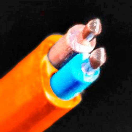 СКЗ кабель медный ВВГ-П нгд LS 2*6,0 мм2 оранжевый Слобожанский кабельный завод