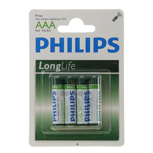 PHILIPS LONG LIFE  AAA BL 4