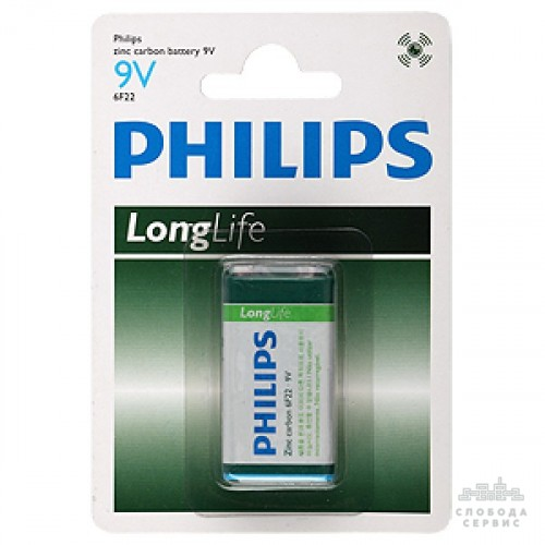 PHILIPS LONG LIFE 6F22 BLI 1