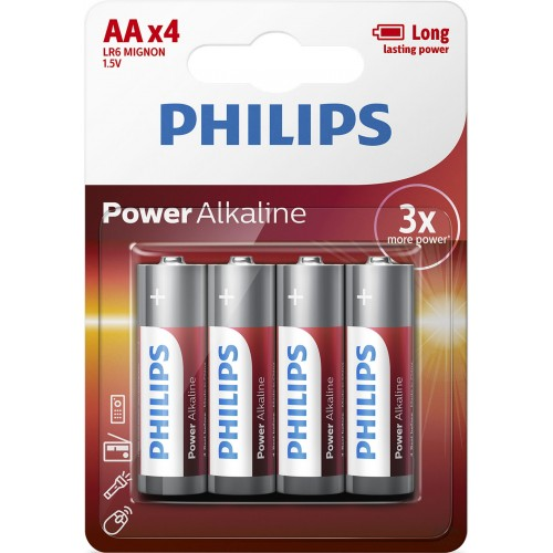 PHILIPS POWER Alkaline AA BLI 4