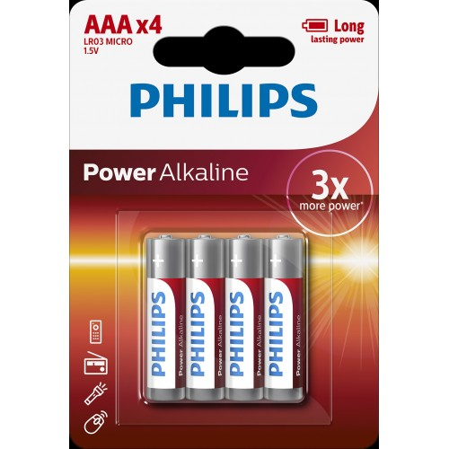 PHILIPS POWER Alkaline AAA BLI 4
