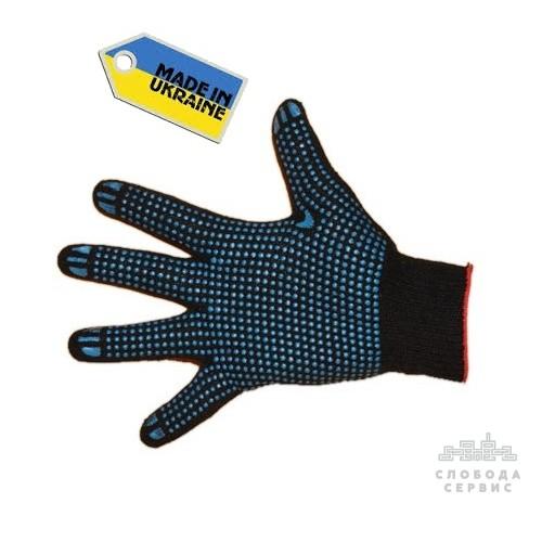 Перчатки с ПВХ черные Украина 10 класс